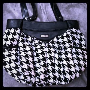 Miche bag with houndstooth shell